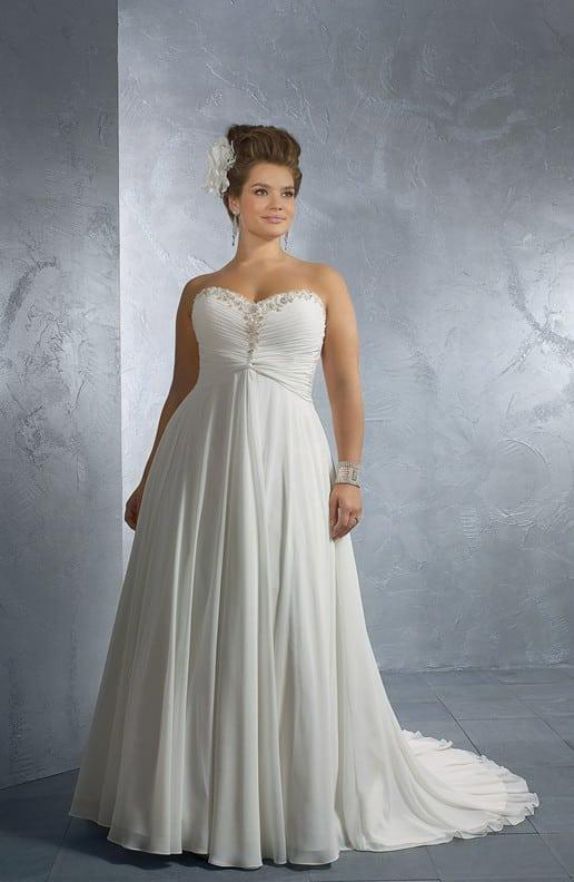 Plus Size Wedding Dresses With Empire Waist : Style b plus size wedding dresses with empire waist line