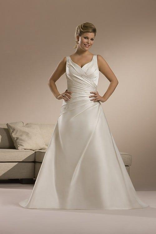 Plus size bridal gowns plus size wedding dresses for Plus size silk wedding dresses