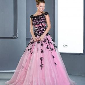 cap sleeve ball gowns in pink
