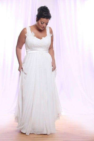 Empire Waist Chiffon Plus Size Wedding Dresses 43
