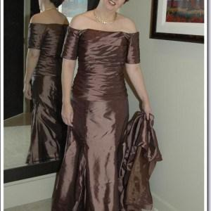 chocolate color plus size mother of the bride dresses