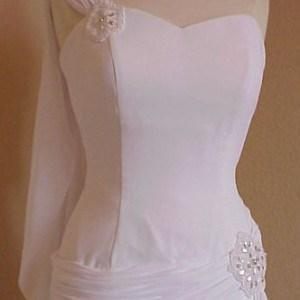 white chiffon evening wear