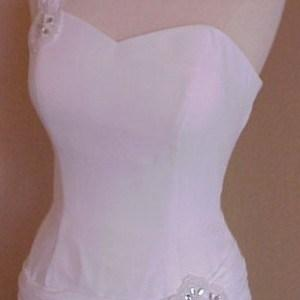 White One Shoulder Evening Wear Formals