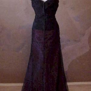 simple broad neck evening dress