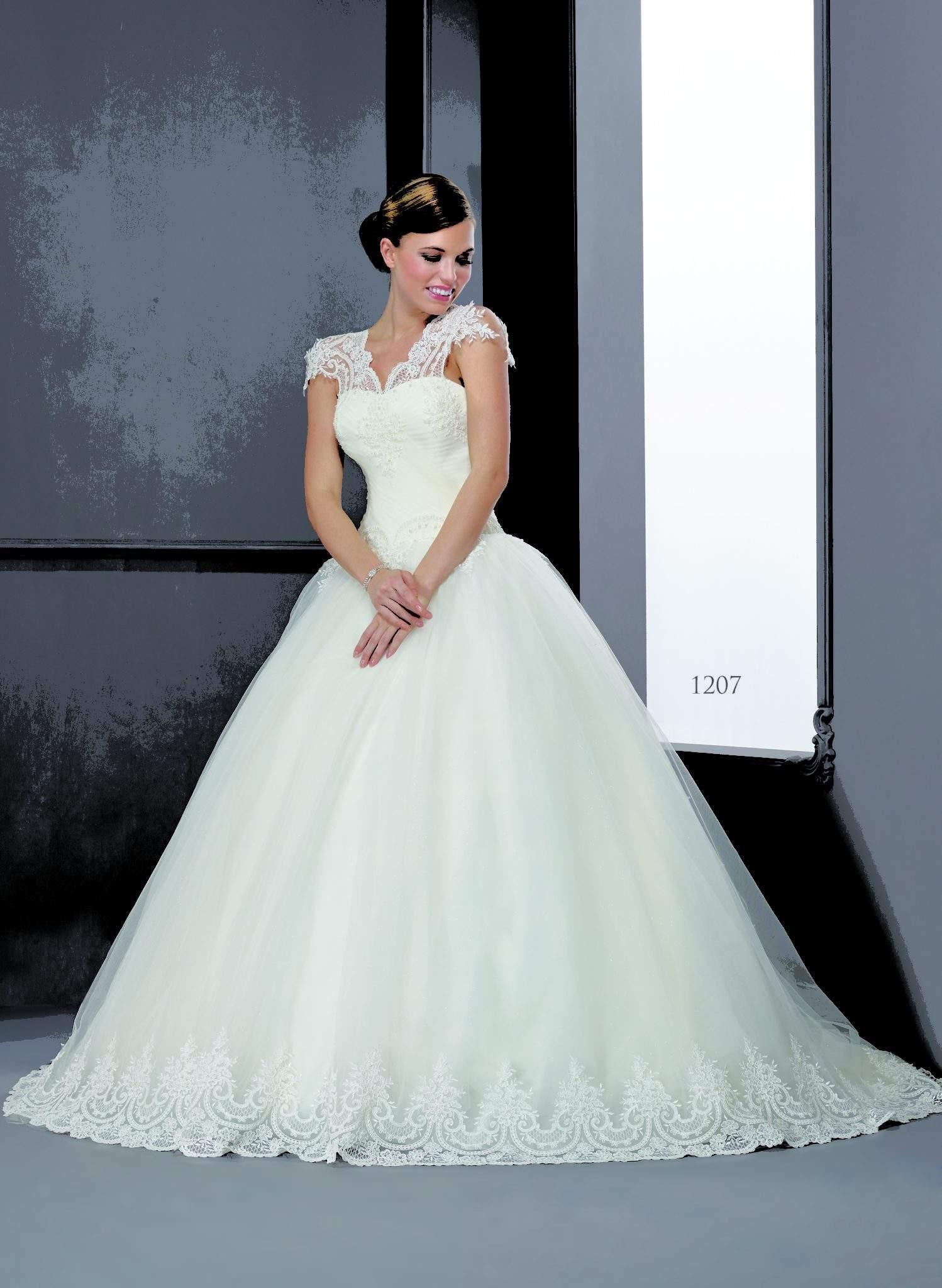 Cap Sleeve Wedding Ball Gowns - Darius Cordell Fashion Ltd