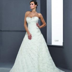 StraplessA lineWeddingGownDresses