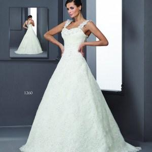 Style T1260 Designer Wedding Gowns with Straps