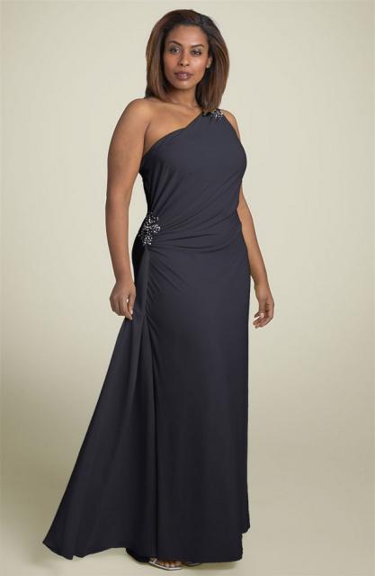 One Shoulder Plus Size Evening Gown Darius Cordell Fashion Ltd