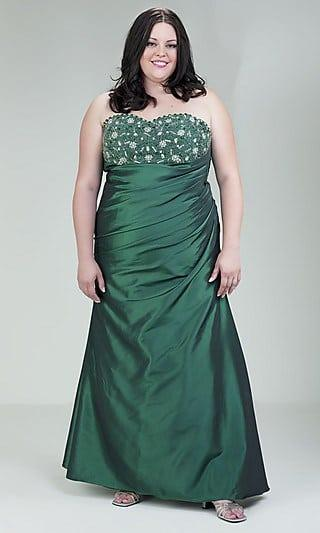 Strapless Green Ball Gowns In Plus Size Darius Cordell