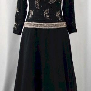 black long sleeve evening wear