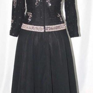 black & copper wedding wear