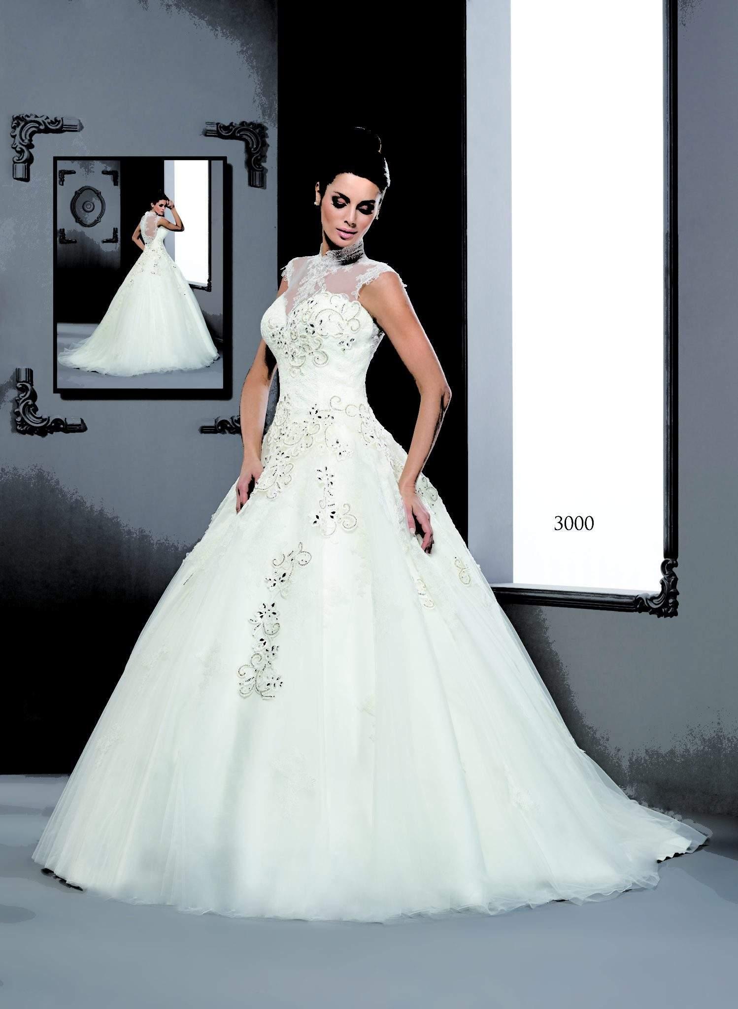 Halfter Style ärmellose Brautkleider von Darius Couture