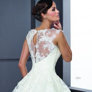 Style T3004 - Modest Wedding Dresses with illusion necklines