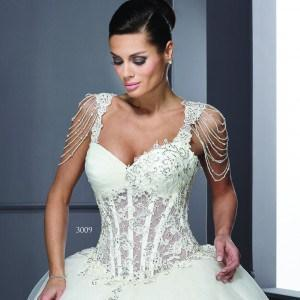 Style T3009 - Custom Wedding Gowns w/ Corset Bodice