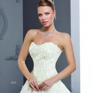 Style 3010-2 - Strapless Lace Wedding Gowns with A-line cut