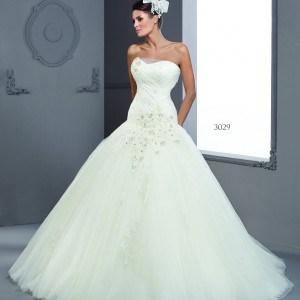 Style T3029 - Dropped Waist Bridal Gowns for a church wedding