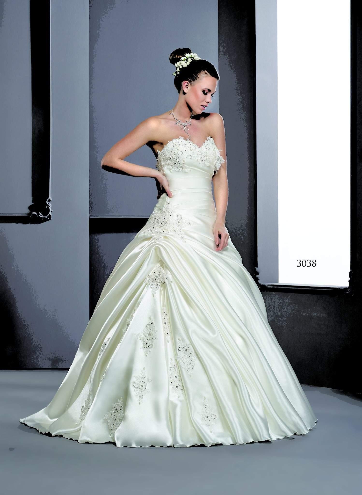 Strapless Silk Satin Wedding Gowns - Darius Cordell Fashion Ltd