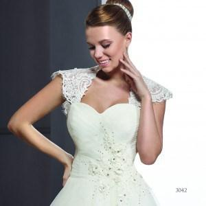 Style T3042 - Modest Wedding Gowns with Covered Shoulders