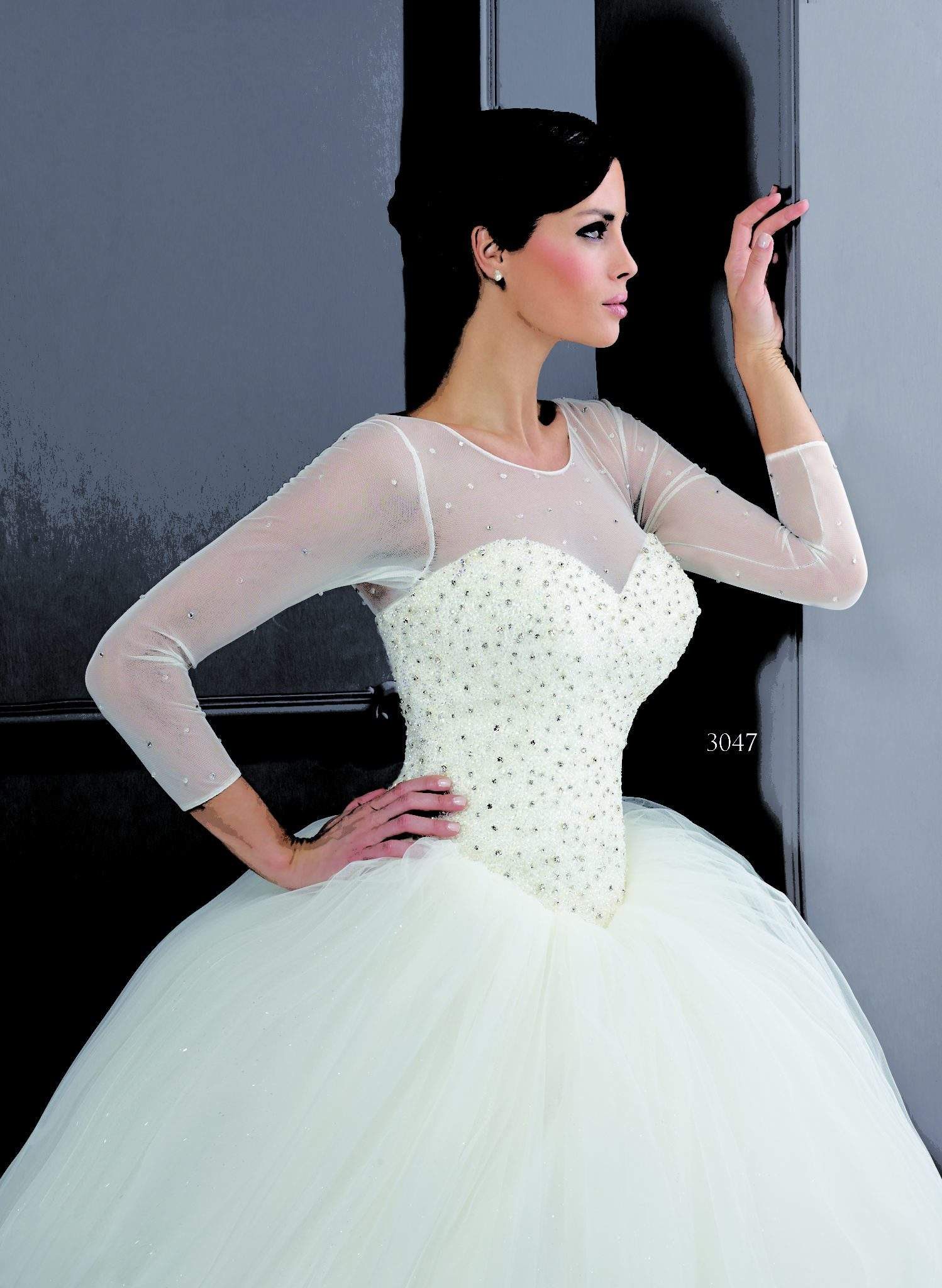 Stretch Long Sleeve Wedding Dresses