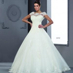 Style #T3050 - Modest Temple Wedding Dresses with short Cap Sleeves