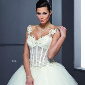 Built In Corset Bridal Gowns with Wide Straps