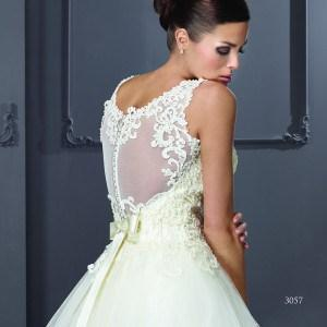 Style T3057 - Sleeveless Sheer Back Bridal Gowns