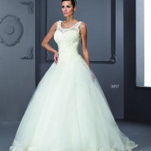 sleeveless scoop neck bridal gowns