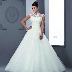 Sleeveless Illusion neckline Bridal Dresses