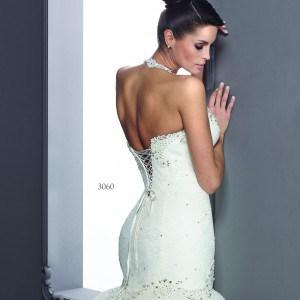 Halter Style Lace up Back Bridal Gowns