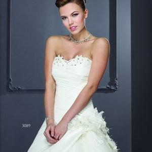 Style T3089 - Designer Wedding Dresses with Flowers