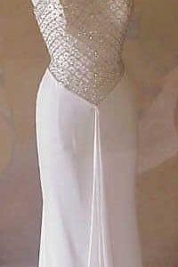 Style 3200 - beaded white pageant dresses