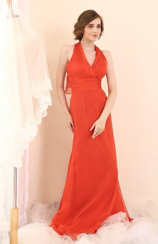 Rote Halter Abendkleider - Darius Cordell Fashion Ltd