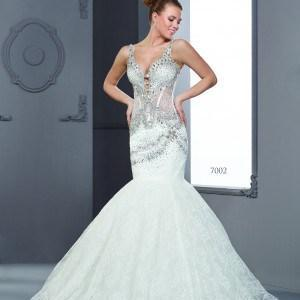 Beaded Designer Bridal Gowns with Swarvoski Crystals