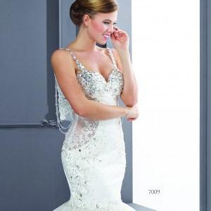 Silk Bridal Gowns with Swarovski Crystals
