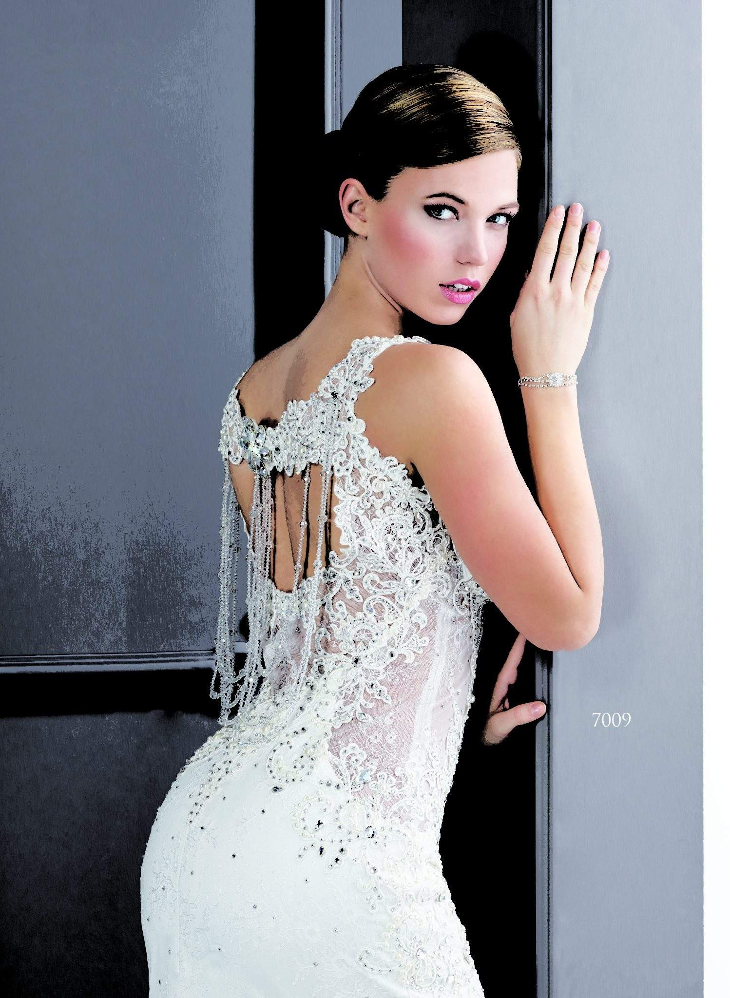 Open Back Swarovski Crystal Bridal Dresses