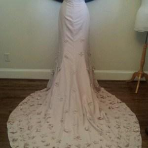 Long Wedding Gown Train With Flowers
