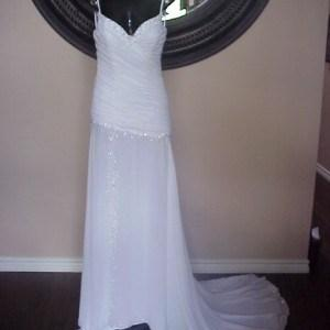 white chiffon pageant gowns