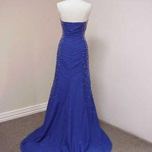 flayered beading evening gown