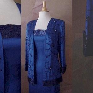 Blue Mother of Bride Suit Dresses