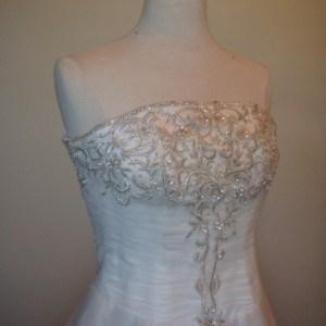Strapless Plus Size Organza Wedding Dresses