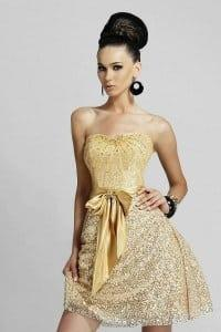 Gold Cocktail Dresses