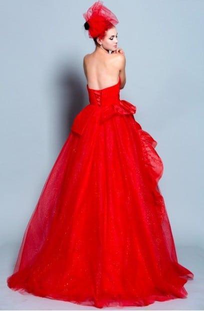 Red Strapless Ball Gowns - Darius Cordell Fashion Ltd