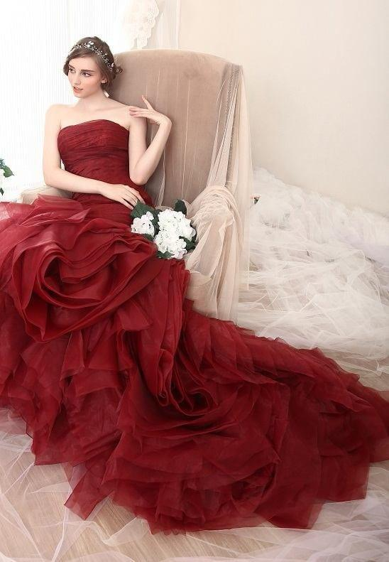 Red Fit-and-Flare Evening Gowns | Darius Customs