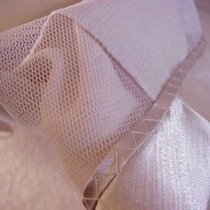 hem evening dress with netting lining