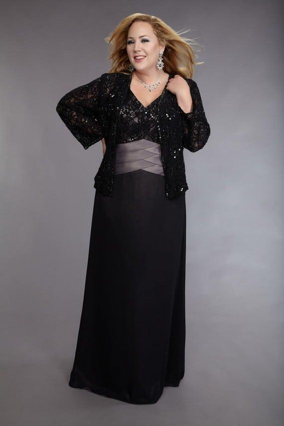 Plus Size Mother Of Bride Dress W Long Sleeves Darius Cordell