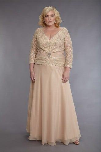 Long Sleeve Plus Size Mother Of Bride Dresses Darius Cordell