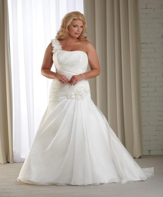 One Shoulder Plus Size Bridal Gowns Darius Cordell Fashion Ltd