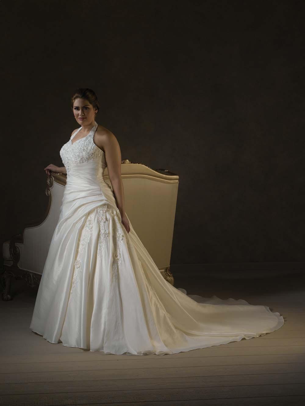 Picm5 Halter Wedding Dresses For Plus Size Women Darius Fashion