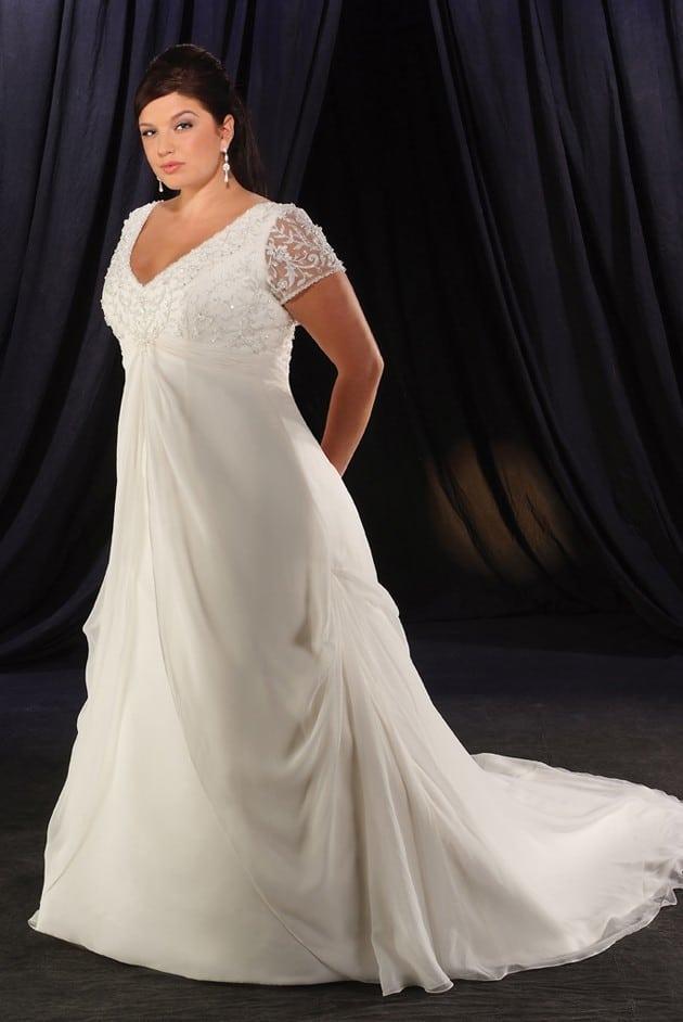 Short Sleeve Plus Size Wedding Dresses Darius Cordell Fashion Ltd