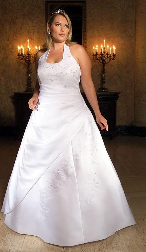 Picm98 Plus Size Bridal Gowns With Halter Neckline Darius Cordell